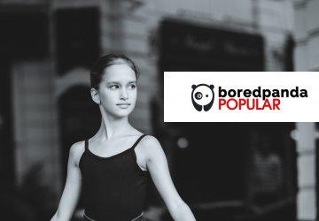 Micuta Balerina devine populara pe Boredpanda