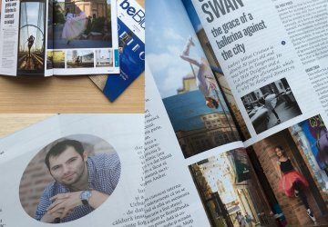 Urban Swan in revista oficiala Blue Air